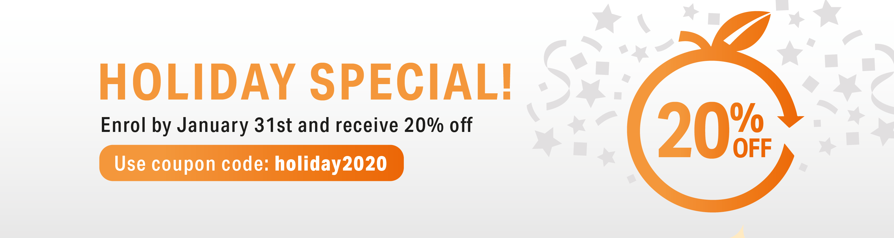 20% off christmas special!